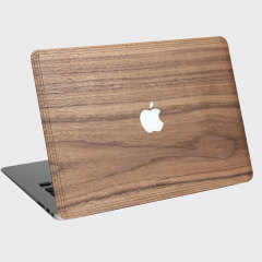 WoodWe Real Wood Apple Macbook Pro Retina 13 Cover - Walnut