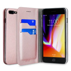 Olixar iPhone 8 Plus / 7 Plus​ Tasche Wallet Case in Rosa Gold