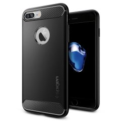 Spigen Rugged Armor iPhone 8 Plus / 7 Plus Hülle in Schwarz