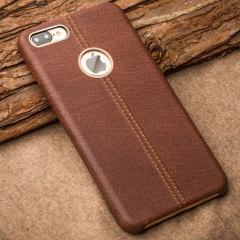 Premium Genuine Leather iPhone 7 Plus Case - Brown