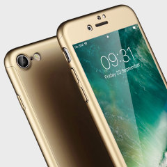 Olixar X-Trio Full Cover iPhone 7 Case - Gold
