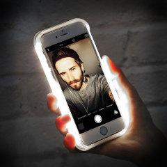 Casu iPhone 7 Selfie LED Light Case Hülle in Schwarz