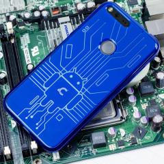 Cruzerlite Bugdroid Circuit Google Pixel XL Hülle in Blau