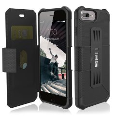 UAG Metropolis Rugged iPhone 8 Plus / 7 Plus Wallet Tasche in Schwarz