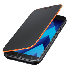 Offizielle Galaxy A5 2017 Neon Flip-Cover Wallet - Schwarz