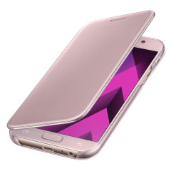 Original Samsung Galaxy A5 2017 Clear View Cover Case in Rosa