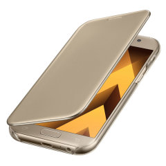 Original Samsung Galaxy A5 2017 Clear View Cover Case in Gold