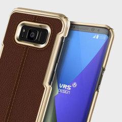 VRS Design Simpli Mod Leather-Style Samsung Galaxy S8 Case - Brown