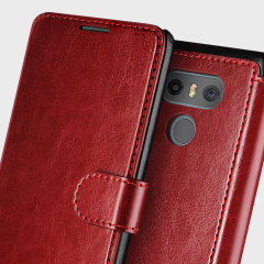 VRS Design Dandy LG G6 Wallet Case Tasche in Burgund
