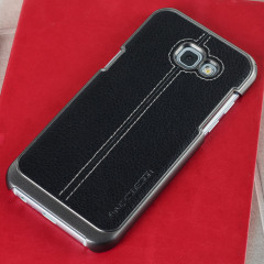 VRS Design Simpli Mod Leder-Style Samsung Galaxy A5 2017 Tasche - Schwarz