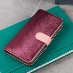 Hansmare Calf Samsung Galaxy A3 2017 Wallet Case - Pink