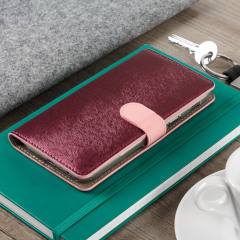 Hansmare Calf Samsung Galaxy A5 2017 Wallet Case - Pink