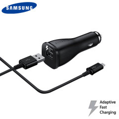 Official Samsung Adaptive Fast Car Charger with USB-C Cable - Black
