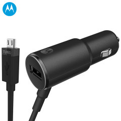 Official Motorola TurboPower 25 Micro USB Car Charger w/ USB Port