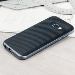 Olixar X-Duo Samsung Galaxy A3 2017 Case - Carbon Fibre Metallic Grey