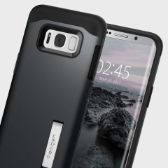 Spigen Slim Armor Samsung Galaxy S8 Tough Case Hülle - Metallschiefer
