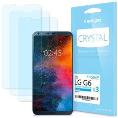 Spigen Crystal LG G6 Film Screen Protector - Three Pack