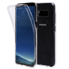 Olixar FlexiCover Complete Protection Samsung Galaxy S8 Plus Gel Case Hülle in Klar