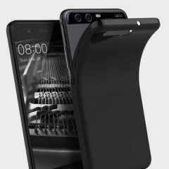 Olixar FlexiShield Huawei P10 Gel Hülle in Solid Schwarz