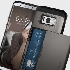 Spigen Slim Armor CS Galaxy S8 Plus Hülle in Gunmetal