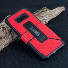 UAG Metropolis Rugged Samsung Galaxy S8 Plus Wallet case Tasche in Magma Rot
