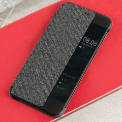 Original Huawei P10 Smart View Flip Case Tasche in Dunkelgrau