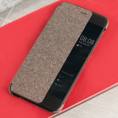 Original Huawei P10 Smart View Flip Case Tasche in Braun