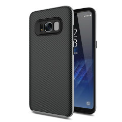 Olixar X-Duo Samsung Galaxy S8 Plus Hülle in Carbon Fibre Silber