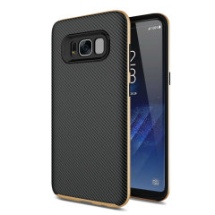 Olixar X-Duo Samsung Galaxy S8 Plus Hülle in Carbon Fibre Gold