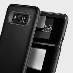 Caseology Envoy Series Samsung Galaxy S8 Plus Hülle Carbon Fibre Schwarz