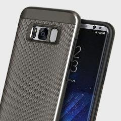 Obliq Slim Meta Samsung Galaxy S8 Plus Case Hülle - Gunmetal