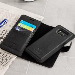 2-in-1 Magnetische Samsung Galaxy S8 Brieftaschen / Hülle - Schwarz
