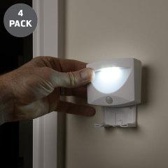 AGL Wireless LED PIR Motion Sensor Handy Lamp Night Light - 4 Pack