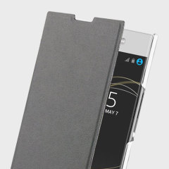 Roxfit Sony Xperia L1 Simply Slim Book Case - Black / Clear