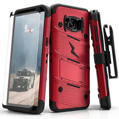 Zizo Bolt Series Samsung Galaxy S8 Plus Tough Case Hülle & Gürtelclip - Rot