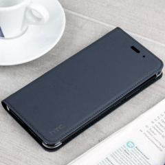 Official HTC U11 Leather-Style Flip Case - Dark Grey