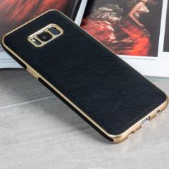 Olixar Makamae Leder-Style Galaxy S8 Hülle - Schwarz