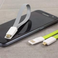 STK Kurzes Magnetische Micro USB Lade und Sync-Kabel  - Twin Pack