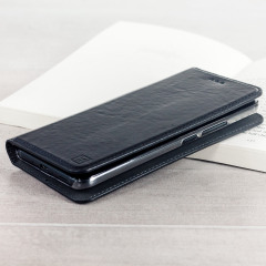 Olixar Genuine Leather HTC U11 Executive Wallet Case - Black