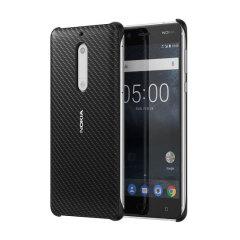Official Nokia 5 Carbon Fibre Design Hard Case - Black