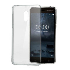 Official Nokia 6 Slim Crystal Silicone Gel Case - Clear