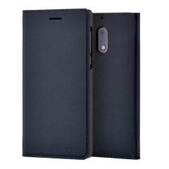 Official Nokia 6 Slim Flip Wallet Case - Blue
