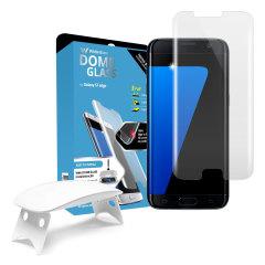 Whitestone Dome Glas Samsung Galaxy S7 Edge Vollabdeckender Display Schutz