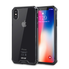 Olixar ExoShield Tough Snap-on iPhone X Case - Schwarz / Klar