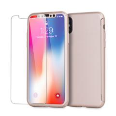 Olixar X-Trio Full Cover iPhone X Case Hülle Rose Gold