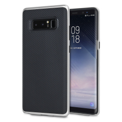 Olixar X-Duo Samsung Galaxy Note 8 Hülle in Carbon Fibre Silber