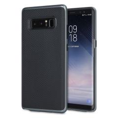 Olixar X-Duo Samsung Galaxy Note 8 Hülle in Carbon Fibre Metallic Grau