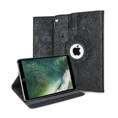Olixar iPad Pro 10.5 Luxury Rotating Stand Case - Black Floral