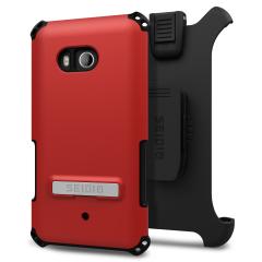 Seidio Dilex HTC U11 Hülle mit Standfuß &Holster - Rot / Grau