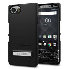 Seidio SURFACE BlackBerry KEYone Case & Metall Ständer - Schwarz